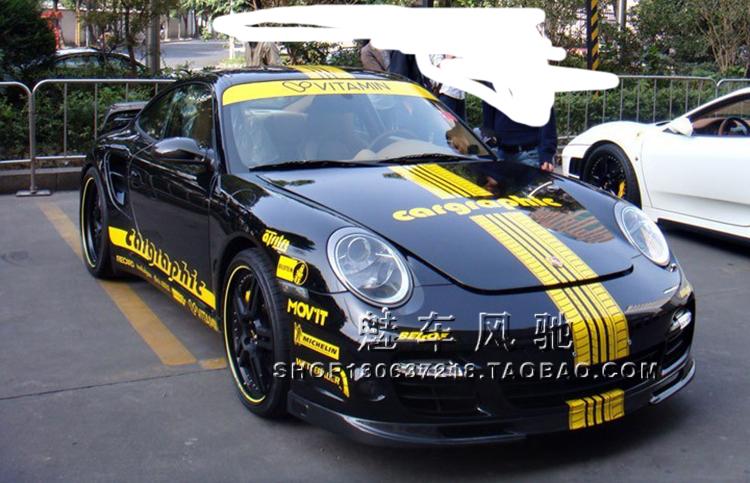 Cayenne car sticker 911 3 Series 5 series MG5 A4L car decorative scratch stickers(China (Mainland))
