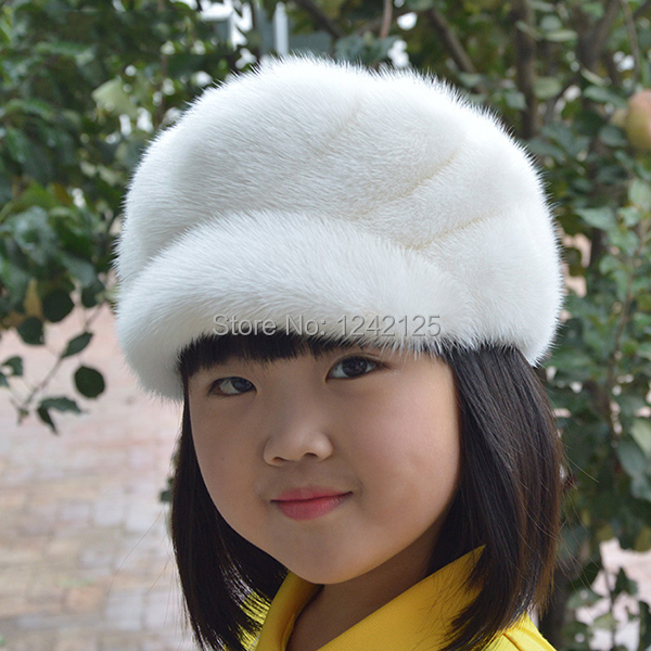 New Autumn winter parent-child mink fur hat windproof warm cute ... d9c1455049c1