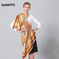 100% Silk Bufandas Mujer Square Luxury High Quality Soft Hijab Scarf Fashion Big Size Shawls And Scarves Winter 110*110 CM
