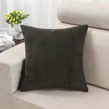 Euphoria Corduroy Stripes Brown Cushion Covers Pillows