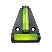 (1 piece/lot) T type spirit level measurement instrument Triangular Plastic level indicator Shell Black and Double Ticks Line(China (Mainland))