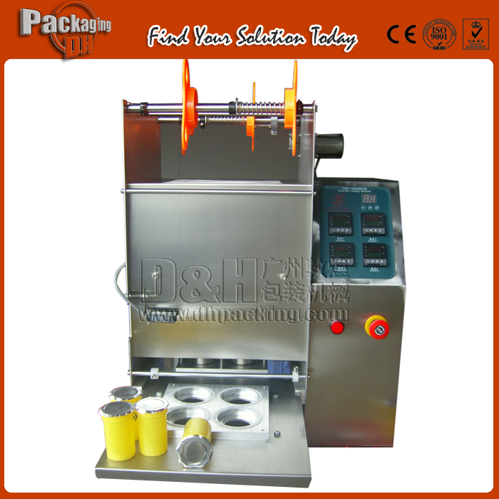 Semiautomatic jelly cup sealing machine,one time, slide rail - DHPACKAGING(Find Your Solution Today store,Scober)