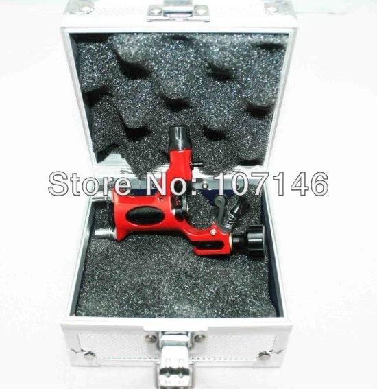 Red Dragonfly Rotary Tattoo Machine Gun Tattoos & Aluminum Box Professional Tattoo Kits Supply(China (Mainland))