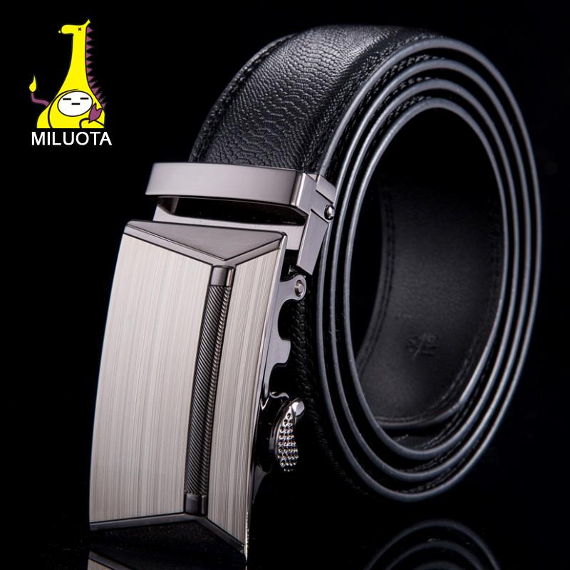 [MILUOTA] 2015 Genuine leather belt men alloy automatic buckle men belts luxury crocodile grain pattern ceinture WN023(China (Mainland))
