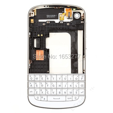 Free shipping for OEM Complete Housing Cover Faceplates for BlackBerry Q10 - Black/white(China (Mainland))