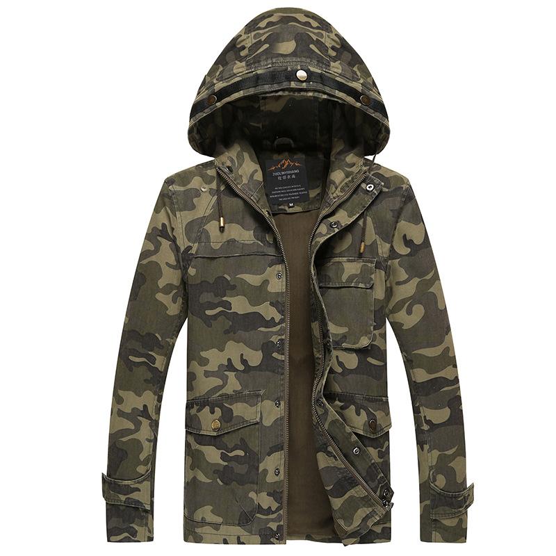 chaqueta camuflaje hombre 2015 camo jacket mens military style coat abrigo giubbino uomo hooded. Black Bedroom Furniture Sets. Home Design Ideas
