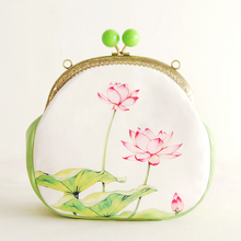 Fresh Floral Flower Printed Candy Chinese Style Bag Chain Small Cross-Body Bag Mobile Phone Mouth Gold Package Cheongsam Bags(China (Mainland))