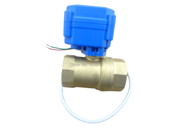 """10 units of motorized ball valve DN15(1/2"""") , electrical valve, 2 way"""