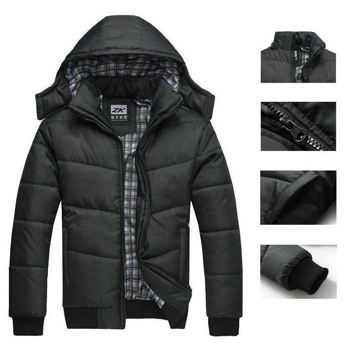 2016 Fashion Brand New Men Winter Black Jacket Warm Hooded Down-jackets Outwear Parka Coat Overcoat - Jia Cheng Global trade Co., Ltd. store