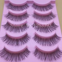 Natural Sparse Cross Eye Lashes Extension Makeup Long False Eyelashes Thick White Cotton Terrier Natural False Eyelashes(China (Mainland))