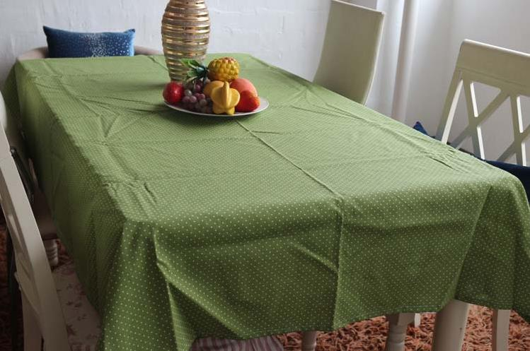table cloth green fresh and cozy crochet tablecloth nappe de table small dots toalhas de mesa. Black Bedroom Furniture Sets. Home Design Ideas