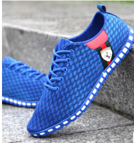 Men Shoes Promotional Discounts Mens Sneakers Summer Casual Breathable Mesh Sneaker Sports 2015 Men's Fashion Shoes00218(China (Mainland))
