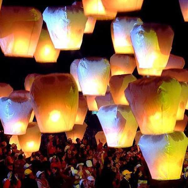 5pcs/Lot Lantern Aesta Sky Fire Chinese Lantern Flying Paper Party Outdoor Chinesepaper Lamp Sky Lantern Flying Lanterns Wedding(China (Mainland))