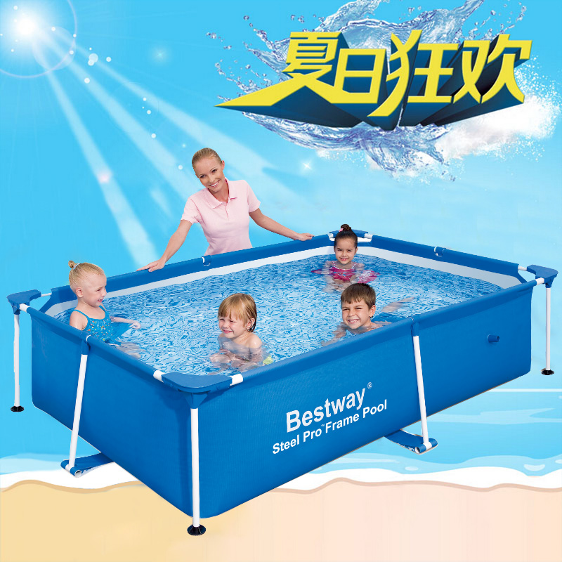 Adult Family oversized thick bracket pool Children 's wading pool free inflatable pool square swimming pool(China (Mainland))