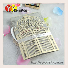 Gate shaped wedding invitation card 50sets/lot beautiful handmade invitation card for wedding,birthday,even party(China (Mainland))