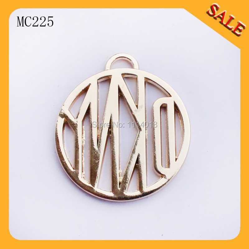 MC225 Fashionable custom brand metal logo tags with hang chains<br><br>Aliexpress