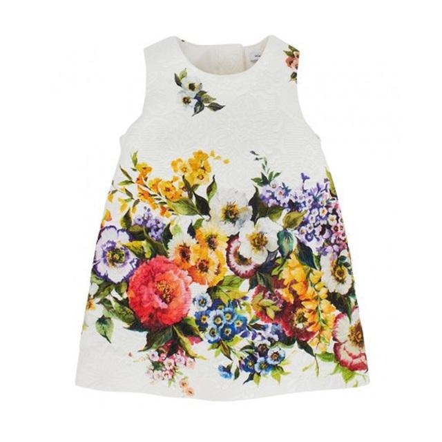 Дети платья для девочек одежда лето 2016 Wlmonsoon платье девушки с цифровой цветочный добби платье принцессы девочек детская одежда
