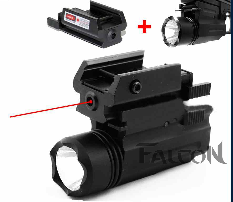2in1 Tactical CREE LED Flashlight/LIGHT +Red Laser...