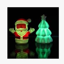 fashlight  luminous Night light Santa Claus Christmas tree christmas hat socks Christmas decoration gifts(China (Mainland))