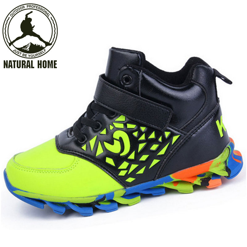 [NaturalHome] Brand New Popular Children's Shoe for Boys And Girls Running Shoes Leather Basketball Shoes Kids Sneakers Boots(China (Mainland))