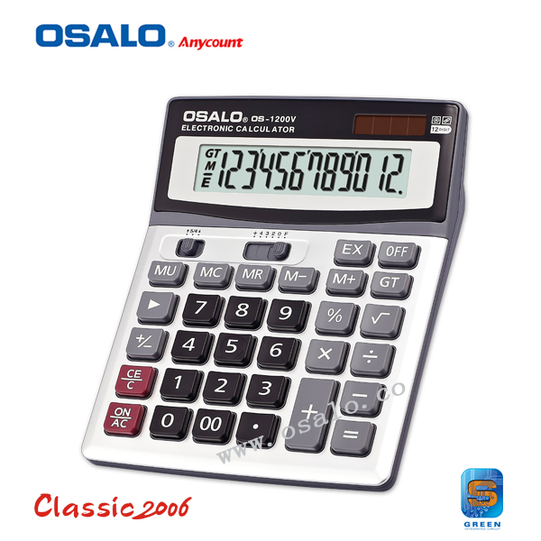 OS-1200V Large LCD Screen 12 Digits Electronic Solar Desktop Calculator Multi-function Auto Power Off Dual Power Calculadora(China (Mainland))