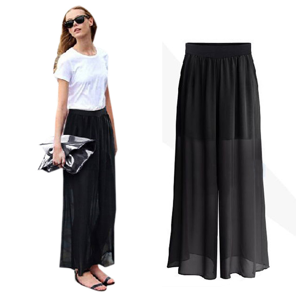 Black Flare Leg Dress Pants - Women's Dresses