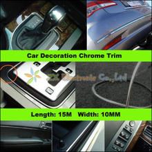 Buy 15M 10mm Car Auto Chrome DIY Moulding Trim Strip Window Bumper Grille Silver Width Universal Car Styling Protector for $12.90 in AliExpress store