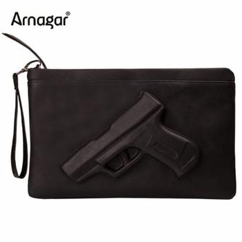 3D Print gun bag women messenger bags designer clutch purse famous brand women bag ladies envelope clutches with strap or chain