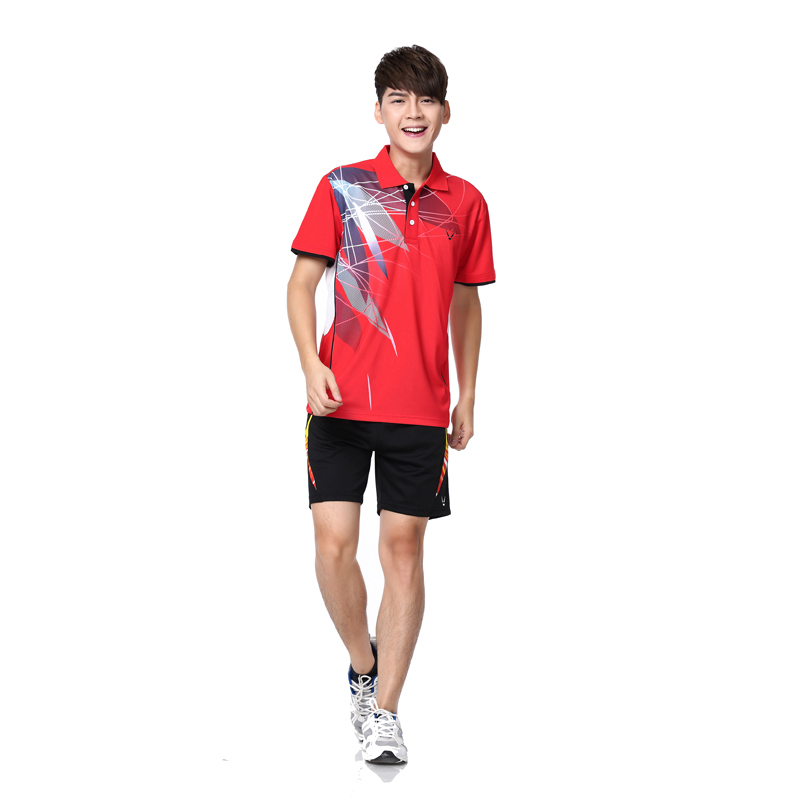 HOT RACE WAY badminton shorts / casual shirts / Tennis Apparel / Table Tennis shirt + shorts suit Wholesale(China (Mainland))