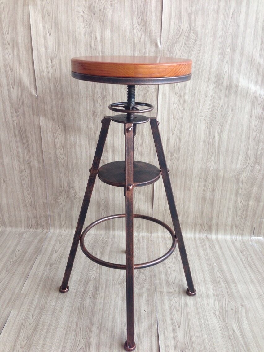 Free shipping continental iron industrial design chair bar for Industrial design chair