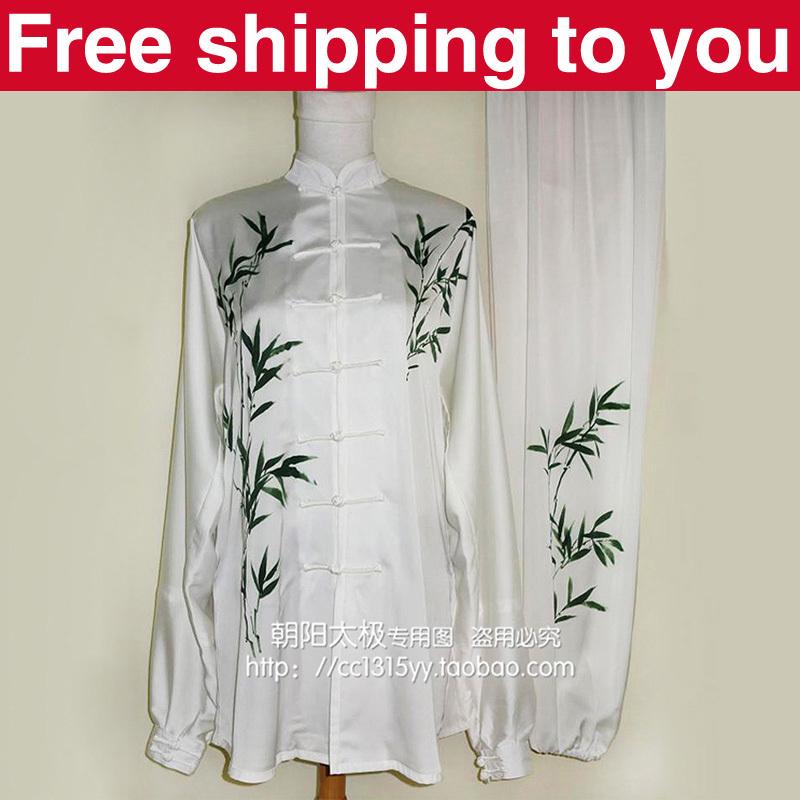 Customize Chinese Tai chi clothing/Martial arts clothes/taiji performance suit/print bamboo/children/women/girl/boy/men/kids<br><br>Aliexpress