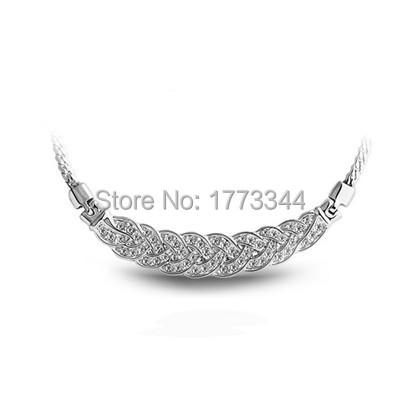 Free shipping Wholesale Bridal Brand Import Rhinestones 18K Gold plated twist Snake Link Necklace fashion Jewelry 2901(China (Mainland))