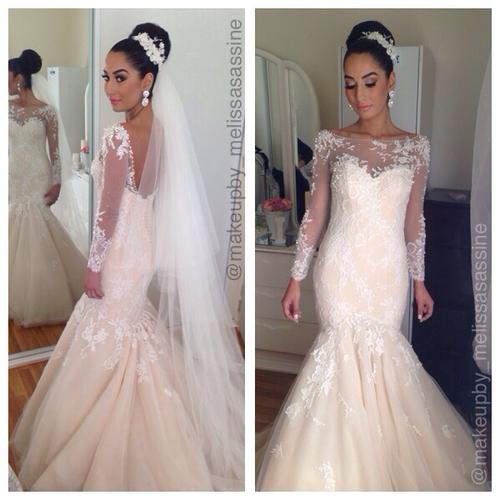 2016 Hot Sale Vestidos De Noiva Vintage High Neck See Through Corset Mermaid Wedding Dresses Long Sleeves Open Back Bridal Gowns(China (Mainland))