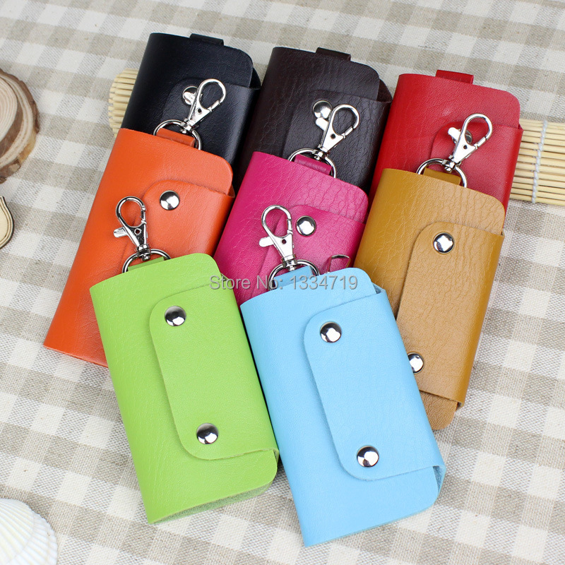Pu Leather Quality Brand Hot Sell New Fashion Style Solid Key Wallets Bag Car Housekeeper Holders