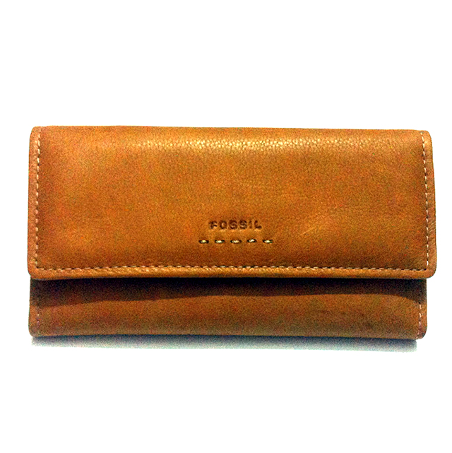 FOSSIL women bag Fashion women wallets,Genuine Leather Solid Long wallets,Cowhide Women Brown Zipper & Hasp purse(China (Mainland))