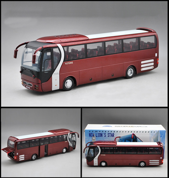 FreeShipping 1:43 Scale MAN,Lion's Star Diecast Bus Coach Models Toys YuTong Bus ZK6120R41 For Baby Gifts(China (Mainland))
