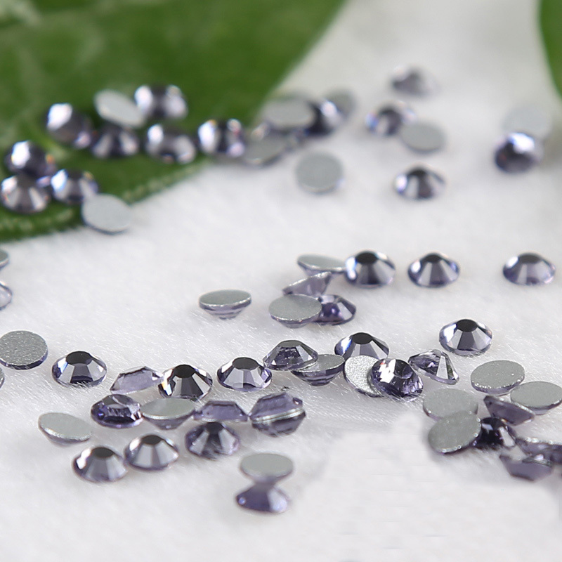 SS3 1.3-1.4mm Purple Lotus Non Hot Fix Rhinestones Crystal strass fingernail cellphone stones glitter DIY Nail Accessaries(China (Mainland))