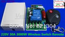 220 В беспроводной пульт дистанционного управления система 30A 3000 Вт рф 315 мГц свет лампы из светодиодов водяного насоса электрическую машину на сиюминутных