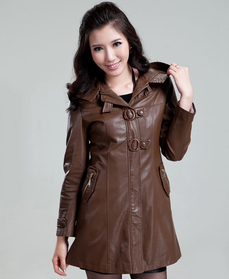 !2013 sell like hot cakes autumn outfit new dress coat female fashion leather jacket slim women real - T Y HUI's store