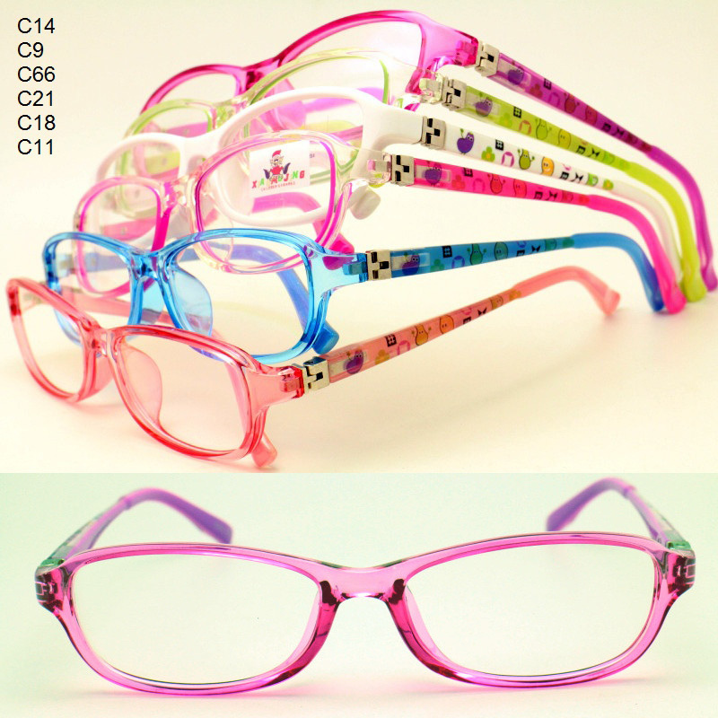 wholesale 8325 pupil TR90 colorful printing unique optical full rim fexilable hinge crystal eyeglass frames  free shipping(China (Mainland))