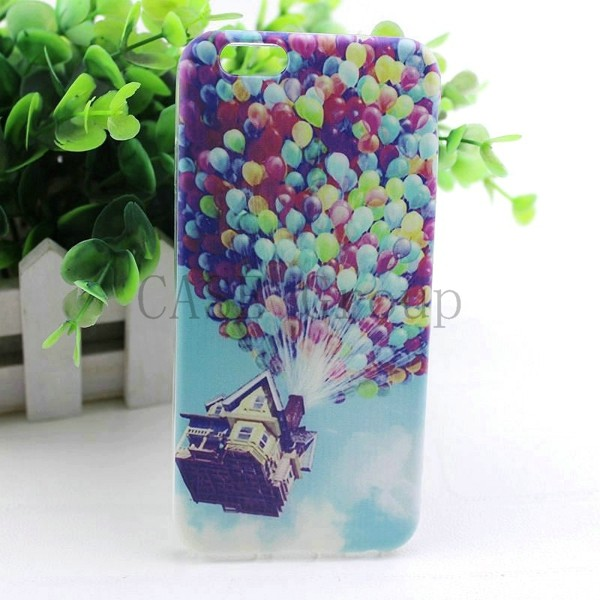 new cute cat kiss fish tiger owl pattern painting Soft TPU Case For Apple iPhone 6 Back Skin Cover Cell Phone Protective 03