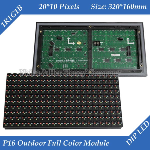P16 Outdoor RGB Full Color Window TEXT LED Display Module 320*160mm 20*10 pixels(China (Mainland))