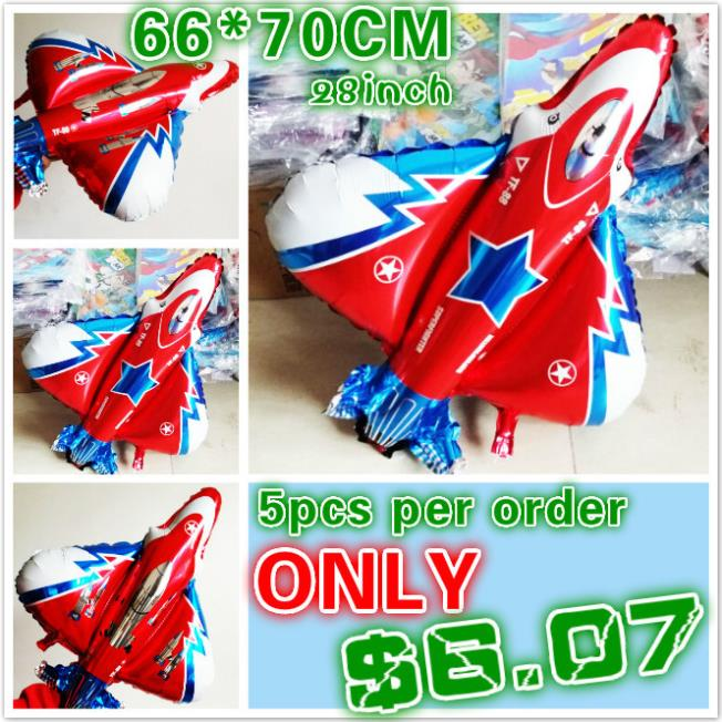 5pcs/lot fighter/warplane model aluminum foil balloons large air/helium globos festival party baloon birthday party supplies(China (Mainland))