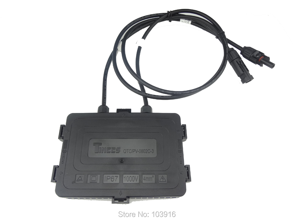 JUNCTION BOX with 90cm cable, with MC4 connector 8AMP, for SOLAR CELLS PANELS(China (Mainland))