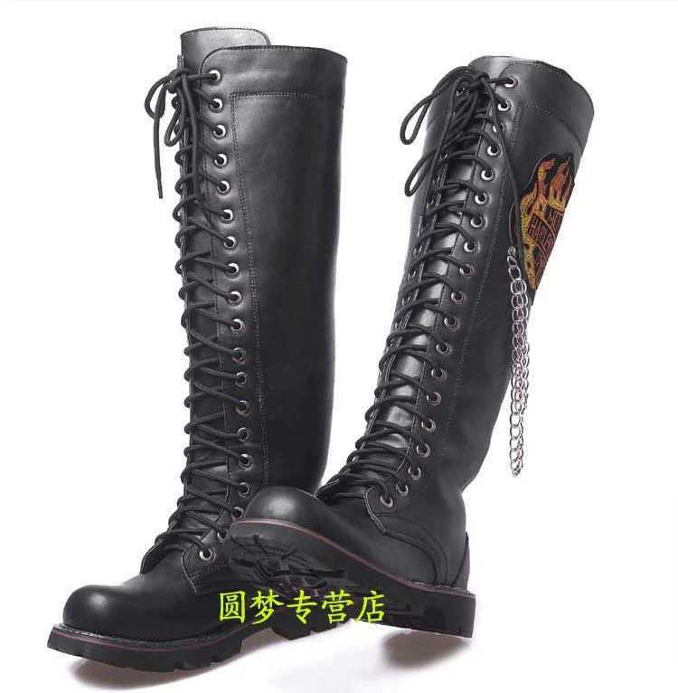2015 winter s lace up knee high boots fashion