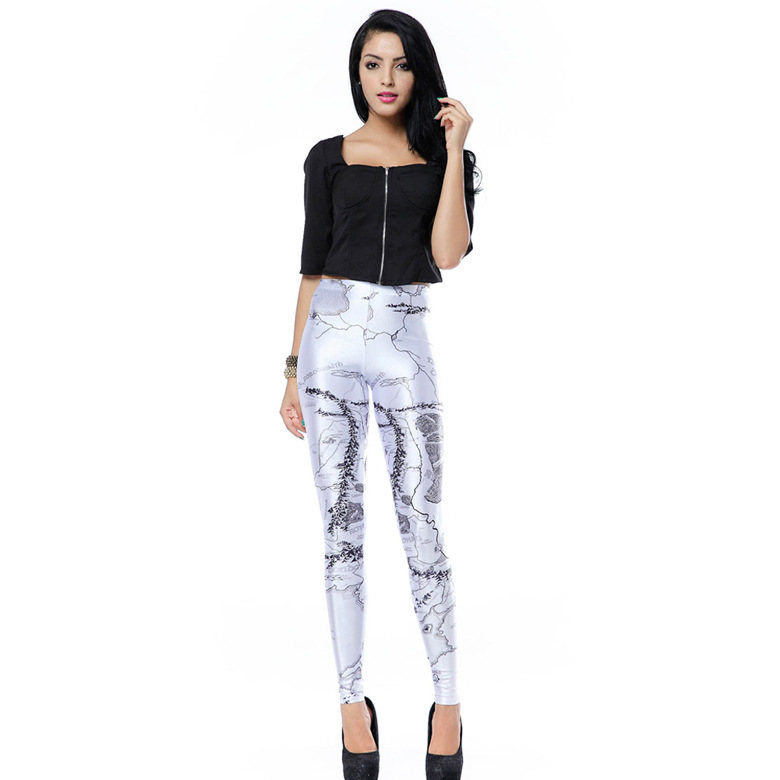2016 Women High Waist Pants Ladies Fashion Print Skinny Long Pant leggings with Top Quality for Sale(China (Mainland))