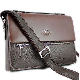 Australian kangaroo male pack New Laptop Briefcase genuine cow leather shoulder bag men briefcase(China (Mainland))