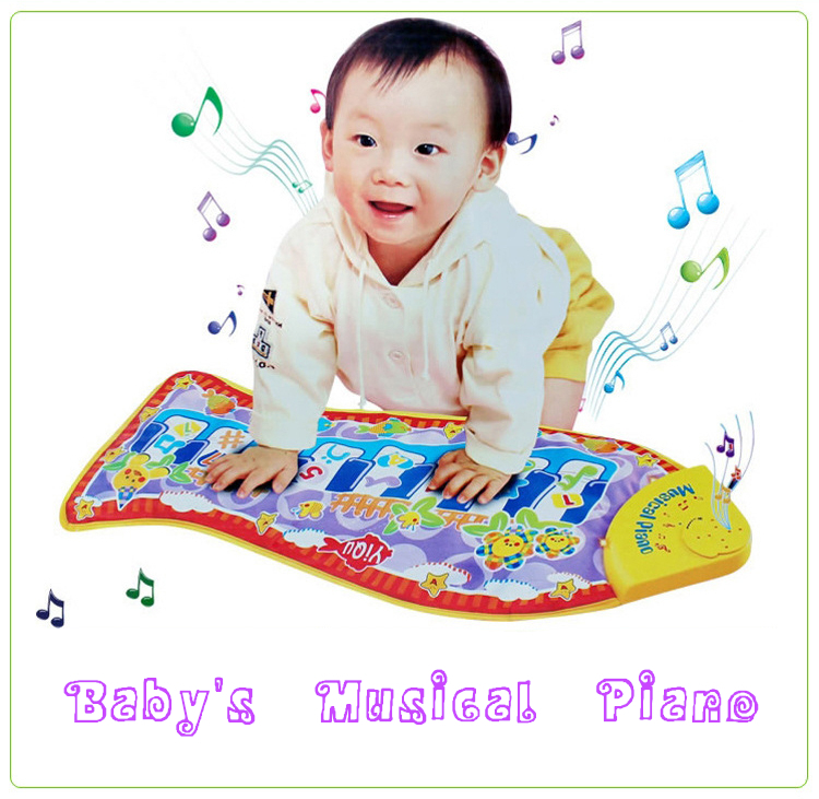 Learning Education Toy Musical Instrument Infant Kick Play Piano with lights Fish Mat Educational Music Toys for Baby Kids Child(China (Mainland))