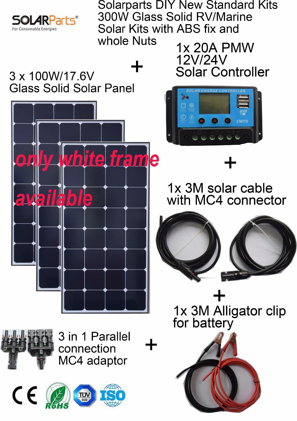 Solarparts 3x100w Monocrystalline Solar Module Sunpower