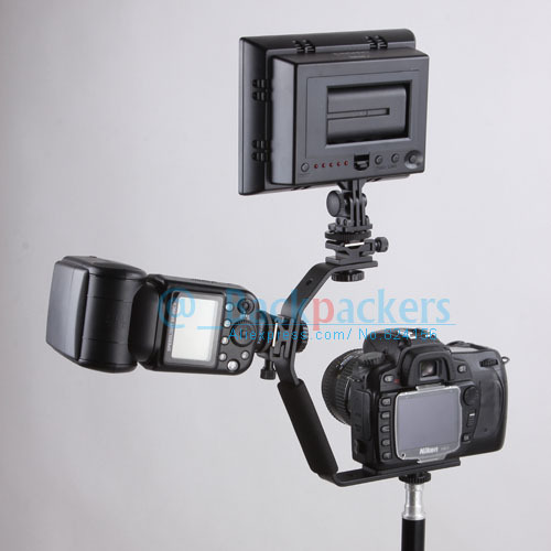 Camera Flash Bracket Light Stand Mount Holder with two Hot ...
